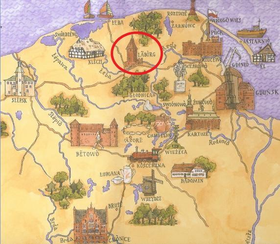 mapa kaszub